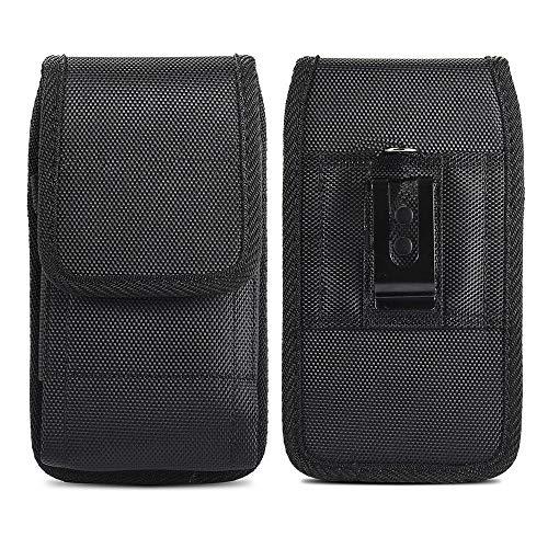 Funda Universal con Clip de Cinturón para Samsung Galaxy A40 / J3 J5 2017 / S10e S10 Lite S6 S7 Teléfono Móvil Vertical/Horizontal Nylon Bolsa de la Cintura Cover Negro