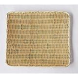 【かごや】特選 角盆ざる(竹ざる 水切りザル) 約36×42cm (7019)
