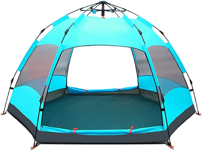 LBAFS Outdoor-Familien-Zelt-automatisches Anti-UVregendichtes Großes Zelt Für Kampierenden Familien-Party Küsten-Park, Person 6-9,LightBlau B07GR6T91X  Bequeme Berührung