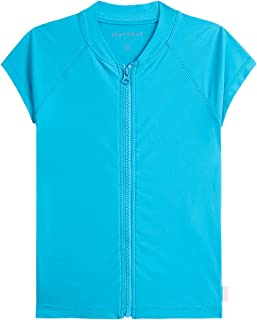 Seafolly girls Short Sleeve Zip Front Rashguard Rash Guard Shirt