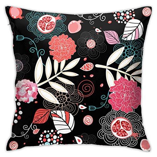 Traveler Shop Patrón de Textura de Flores Funda de Almohada Funda de cojín Cuadrado Sofá casero Decorativo 18x18 Pulgadas