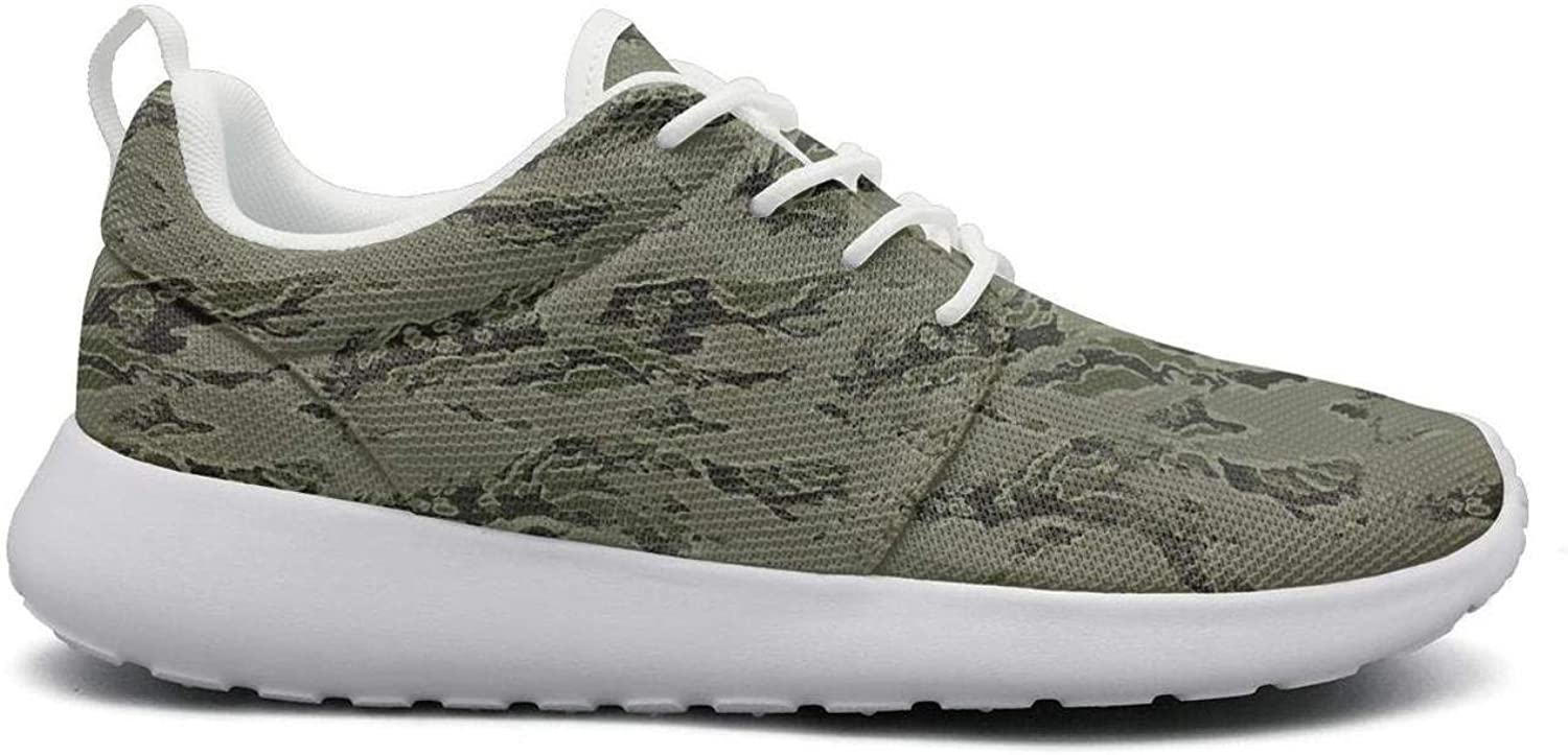 Wuixkas Camouflage Army Green Army Womens Lightweight Mesh Sneakers Funny Running shoes
