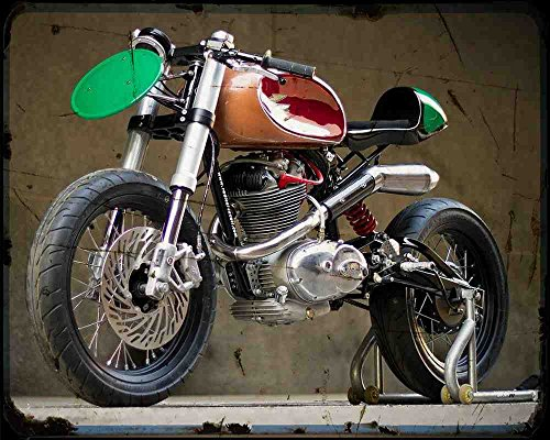 Ducati F3 Radical Ducati 1 A4 Metallschild Motorrad Vintage Aged
