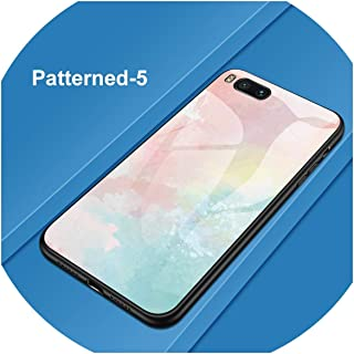 カラフルな強化ガラス電話ケースHuawei P30 P10 P20 Lite Mate 10 20 Pro Nova 2 2i 3 3i Honor 10 8 9 Lite 8X 7C Cover Coque、Pattern 05、For Huawei P20 Lite