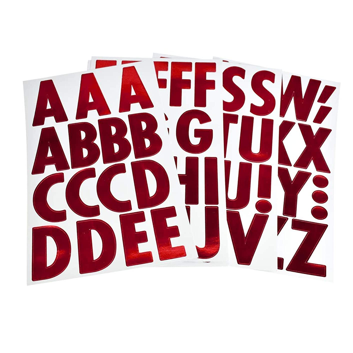 Homeford Big Font Alphabet Letter Stickers, Caps, 3-Inch, 26-Count (Metallic Red) yzfgfhdz18058000