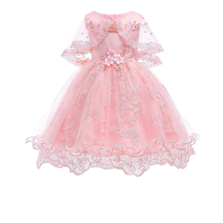 YLQ 女の子子供ノースリーブレース3Dフラワーチュチュホリデープリンセスドレスプリンセスドレス