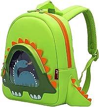 OFUN Dinosaur Backpack Preschool, 12'' Toddler Backpack for Boys, Little Girls Backpack Dinosaur Toys Bag, Waterproof