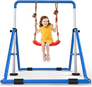 Portable Pull-up & Push-up Bar for Inverted Pull-ups Foldable Children's Horizontal Bar Gymnastics Bars Children's Equipme...