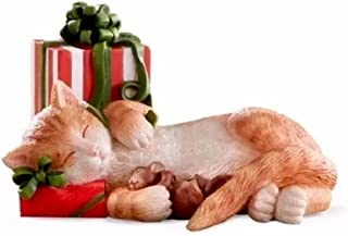 Lenox Kitty's Christmas Nap Cat with gift Figurine