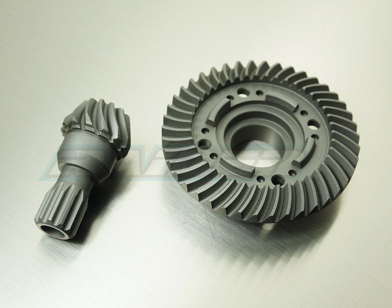 Raidenracing Rear Steel Spiral Cut Differential Diff Ring Pinion Gear 42T 13T for 1 5 Traxxas XMAXX XMAXX Replace 7778X