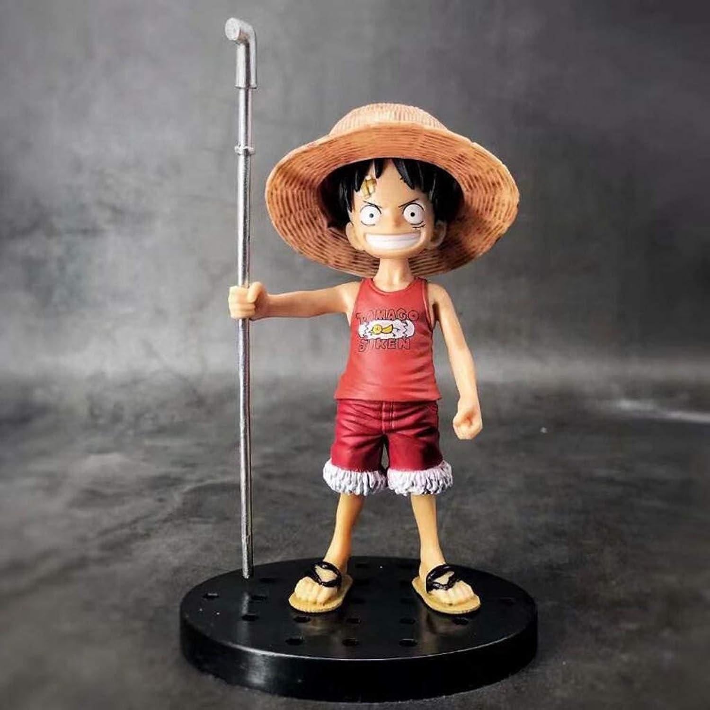 HNBY Ruffy Ace Saab Spielzeug One Piece Toy Statue Spielzeug Modell Cartoon Charakter Geschenk   15 cm   16 cm Dekoration Souvenir Statue (Farbe   A)