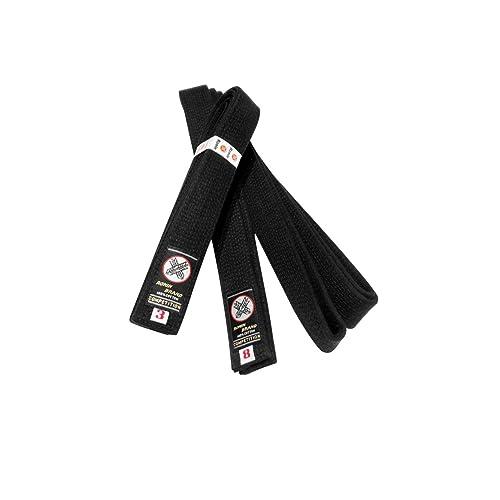 "d Judo Karate Size 8,9  Belt 2/"" inch Embroidered Black TKD Tae Kwon Do"