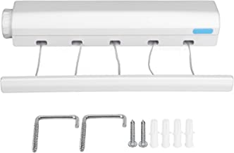 Compact Easily fixed between two walls Flexible Clothesline, Durable Retractable Clothesline, Practical Space‑Saving for B...