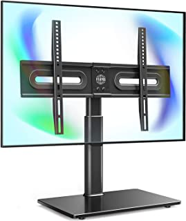 """FITUEYES Universal TV Stand with Mount for 32""""-65 inch Flat Curved Screen with 60 Degree Swivel & 4 Level Height Adjustmen..."""