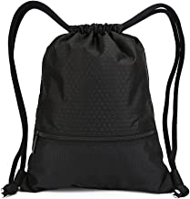 Double Sturdy Drawstring Bag With Pockets Waterproof | For Gym Sports & Workout Gear | Large Capacity String Backpack | 8 Colors