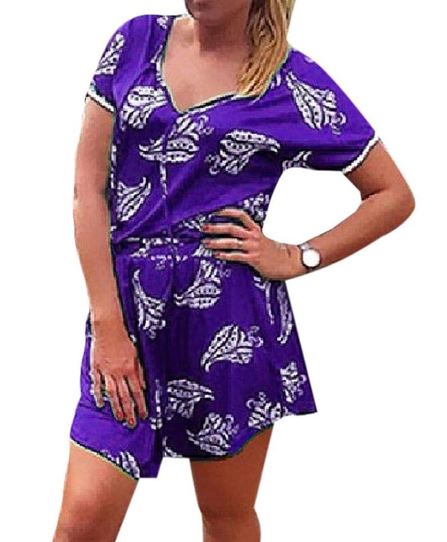 人事ライドブルーベルFRPE 女性2ピースセット生裾は、不規則な半袖ミニドレスを印刷トップス