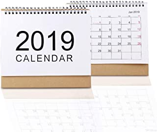 LBG Products Desk Calendar Pad, 2018-2019,Monthly Academic Calendar Planners.(Medium)