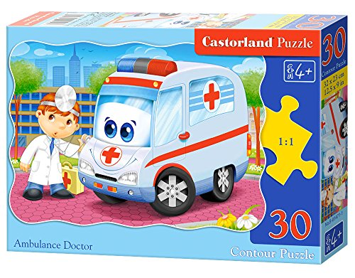 Ambulance Doctor 30 pcs Contour Puzzle 30 Pieza(s)   Rompecabezas (Contour Puzzle, Dibujos, Preescolar, Niño/niña, 4 año(s), Interior)