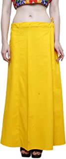Ridhi and Sidhi Women's Cotton Indian Readymade Petticoats. Yellow
