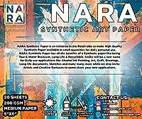 NARA アルコールインクペインティング用ペーパー 5インチ x 6インチ 275ミクロン/200GSM M+ペーパー 25枚 汚れなし
