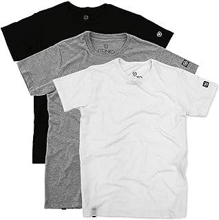 Kit com 3 Camisetas Masculinas Stoned Lisas