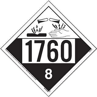 1760 Placard, Class 8 Corrosive 25-pk. - 10.75