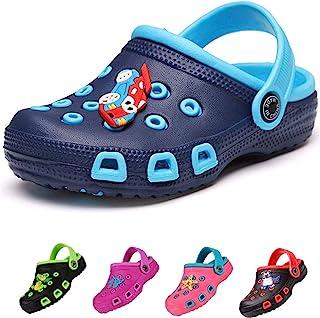 Kids Clogs for Girls and Boys Non-Slip Garden Shoes Slip-on Sandals Beach Pool Shower Slippers Surf Clogs for Children Tod...