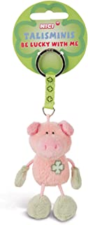 NICI 33687 33687 Schwein Beanbag Schlüsselanhänger Talismin 7 cm, rosa grün