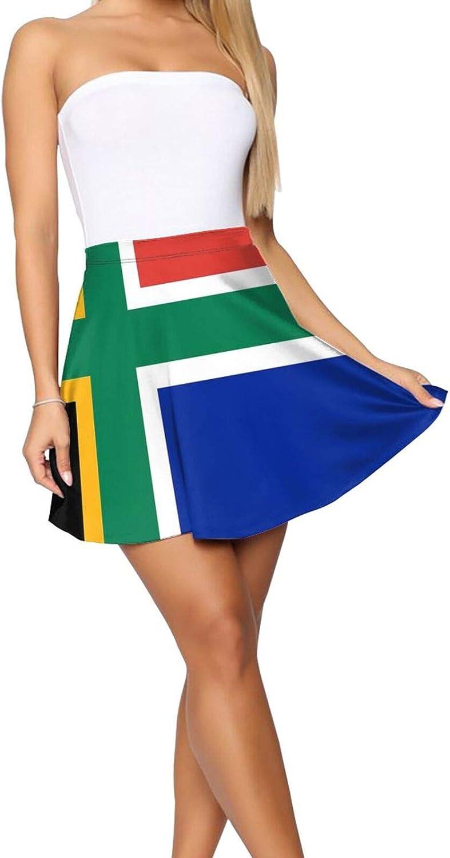 South African Nordic Cross Flag Women's Skater Skirt Cute Short Skirt