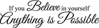 My Vinyl Story If You Believe in Yourself Anything is Possible Wall Sticker Inspirational Wall Decal Motivational Office D...