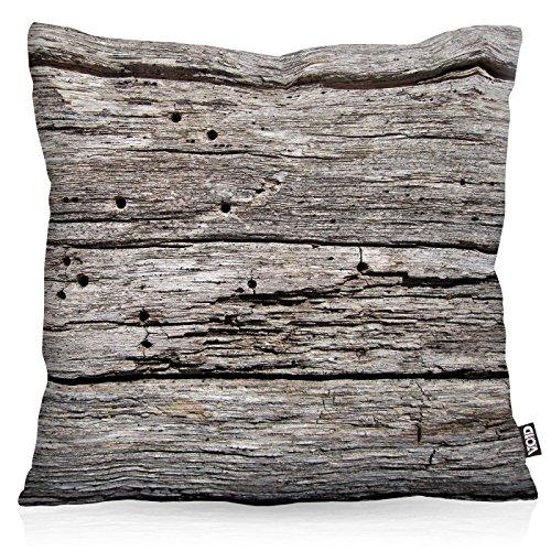 VOID Ausgebleichte Holzplanken Kissenbezug Kissenhülle Outdoor Indoor Holz Holzoptik, Kissen Größe:40 x 40 cm