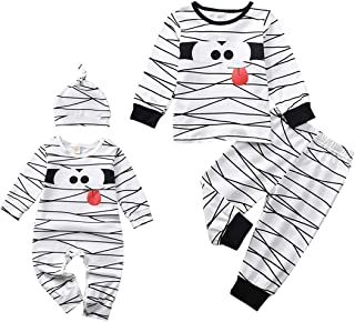 Toddler Baby Winter Romper Jumpsuit Outfit PJS for Kids Funny Onesie Costume Matching Outfits