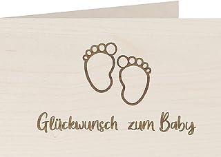 myZirbe Träkort – Grattis till barnet – 100 % handgjorda i Österrike – vykort, gratulationskort, folkkort, inbjudning, trä...