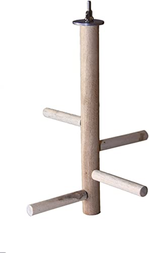 KSK Birds Parrot Perch Toys Natural Wood Jumping Standing Toy