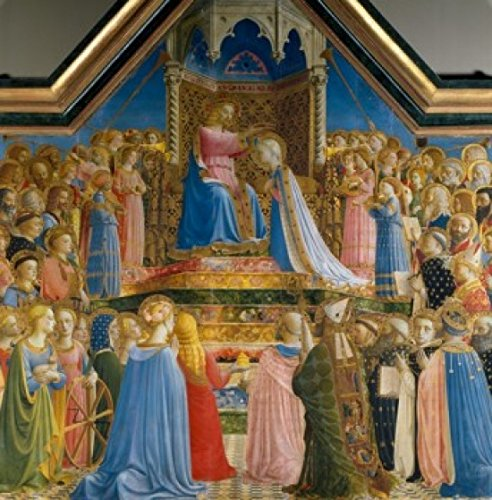 Posterazzi The Coronation of the Virgin Poster Print by Fra Angelico 1435 (Circa 1400-1455) France Paris Musee du Louvre, (18 x 24)
