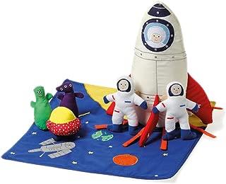 Oskar & Ellen 7 Piece Hand Sewn Fair Trade Soft Space Ship Fabric Playset Toy