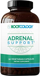 Rootcology Adrenal Support - Adaptogenic Herbal Formula Supplement with Vitamin B6, Licorice + N-Acetyl-L-Tyrosine - Compr...