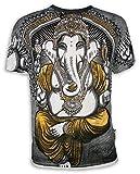 Weed Camiseta Hombre Ganesha - El Dios Elefante Talla M L XL India Hinduismo Buda Yoga (M, Blanco)