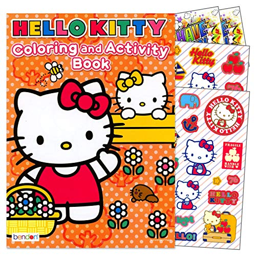 Hello Kitty Coloring Book with Stickers Set Bundle Includes Separately Licensed GWW Reward Stickers