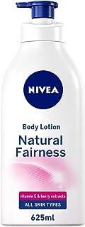 NIVEA Natural Fairness Body Lotion, All Skin Types, 625ml