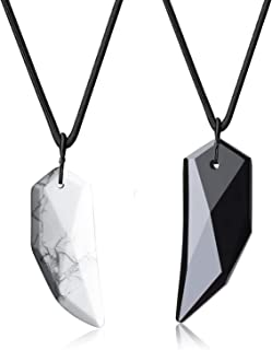 Spike Amulet His Hers Stone Couples Pendant Necklaces