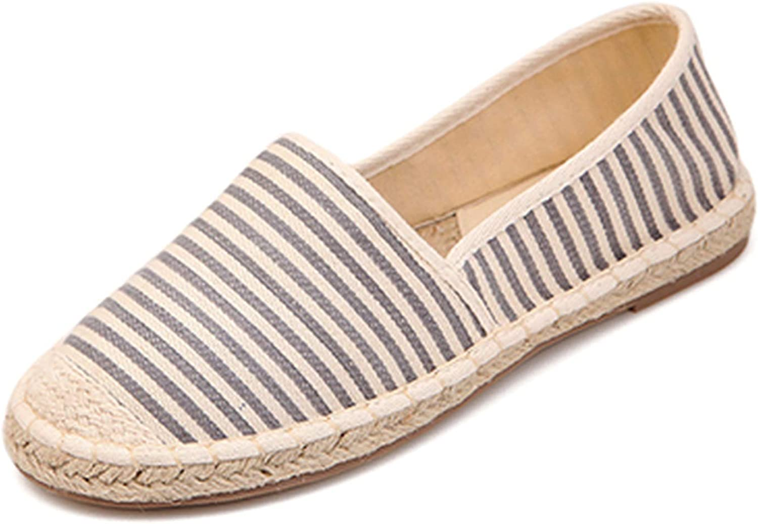 Woman Stripe Casual Wild shoes Female Canvas Linen Rope Straw H-1028