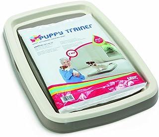 Savic Puppy Trainer Hundetoilette für Welpen, Starter-Set, Toilette mit 7 Pads, Größe M, 46,5 x 35 x 4cm