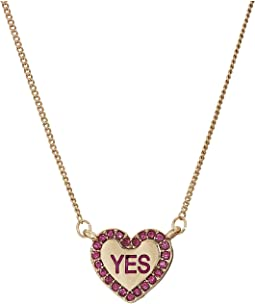 Betsey Johnson - Conversation Heart 4 Pendant Set Necklace