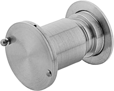 YINGJI Large Door Viewer Security Peek Peep Hole for Home Office 200 Degree Wide Solid Brass Cover (Satin Nickel)