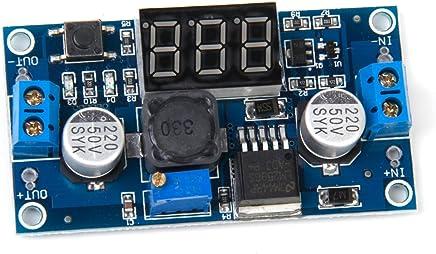 Generic - Modulo riduttore di tensione DC / DC regolabile, con visualizzazione voltmetro