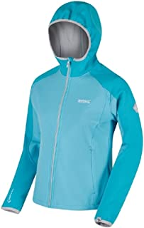 Regatta Women's Arec II Soft Shell Jacket, Turquoise (Horizon/Aqua/Light Steel), 24