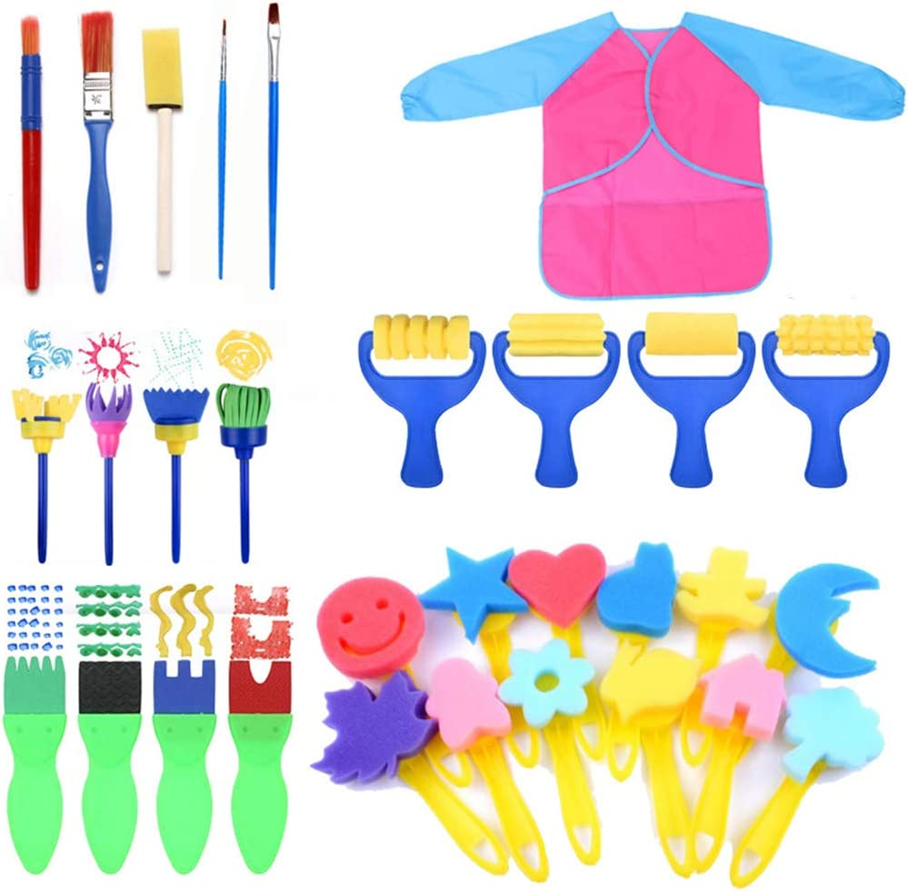 DEARLOYEA Max 76% OFF Early DIY Learning Kids Our shop most popular Ki Brushes Sponge Painting Art