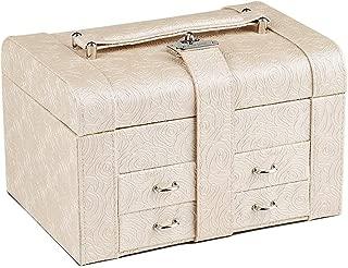 Toiletry Bags Jewelry Box Jewelry Display Box Multi-Function Home Accessories Jewelry Storage Box High-Quality PU Jewelry Storage Display Box Multi-Layer Dressing Table Decorative Jewelry Storage Box