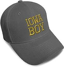 Custom Baseball Cap Iowa Boy State America USA Embroidery Acrylic Strap Closure